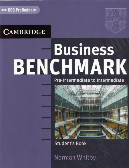 Книга на английском - BEC Preliminary. Cambridge: Business Benchmark Pre-intermediate to Intermediate Preliminary. Students Book - обложка книги скачать бесплатно