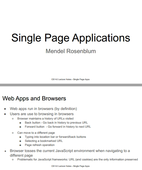 Книга на английском - Web Applications Development, Stanford Lectures: Single Page Applications (SPA) - обложка книги скачать бесплатно
