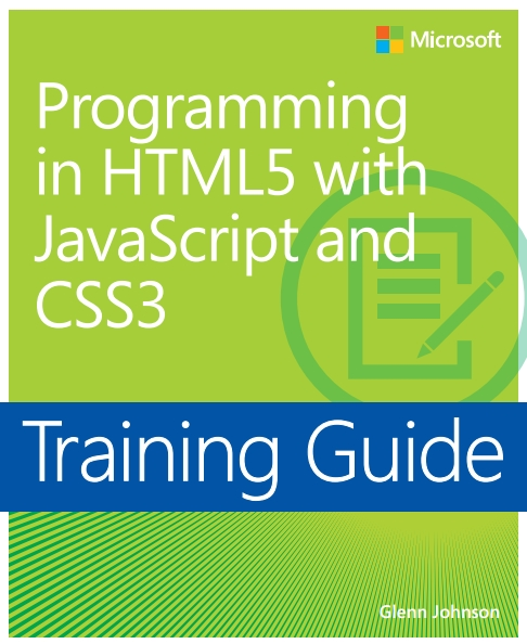 Книга на английском - Programming in HTML5 with JavaScript and CSS3: Training Guide (Microsoft) - обложка книги скачать бесплатно