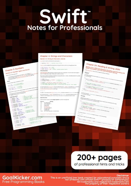 Книга на английском - Swift™ Notes for Professionals: 200+ pages of professional hints and tricks - обложка книги скачать бесплатно