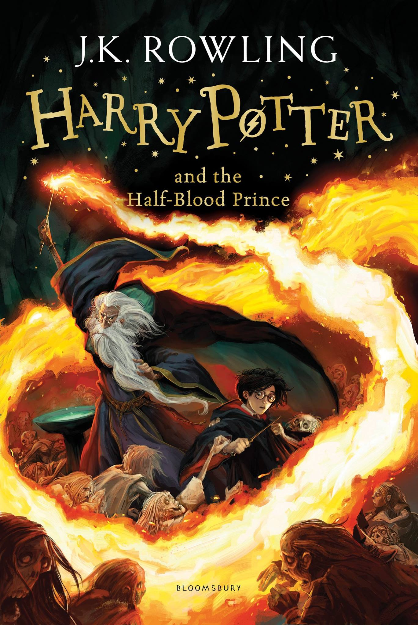 Книга на английском - Harry Potter, Book 6 of 7: Harry Potter and the Half-Blood Prince by Joanne K. Rowling - обложка книги скачать бесплатно