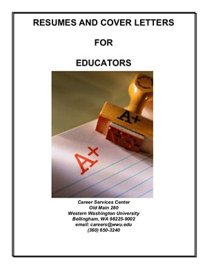 Книга на английском - Resumes and Cover Letters for Educators by Western Washington University - обложка книги скачать бесплатно