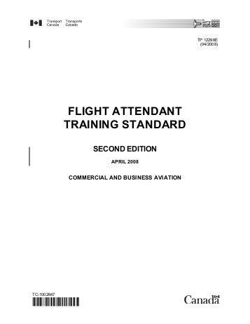 Книга на английском - Commercial and Business Aviation: Flight Attendant Training Standart (Second Edition, Published by Transports Canada) - обложка книги скачать бесплатно