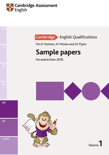 Книга на английском - Sample papers Cambridge English Qualifications (YLE). Pre A1 Starters, A1 Movers, A2 Flyers (For exams from 2018) - обложка книги скачать бесплатно